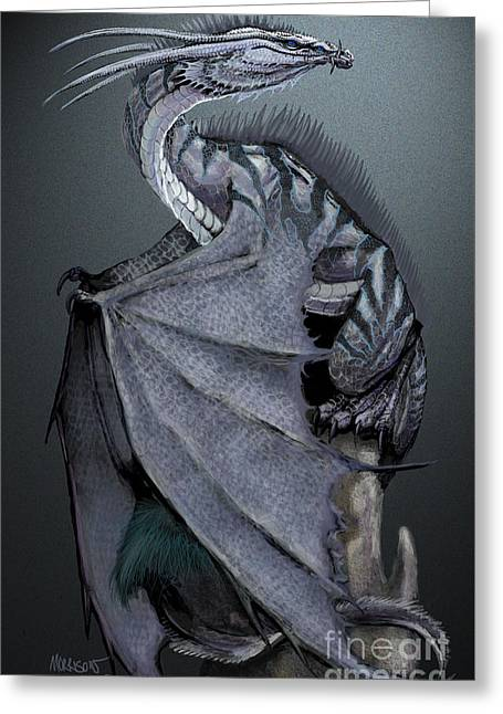 Nickel Dragon Greeting Card