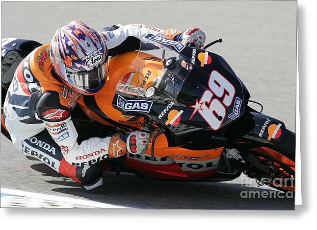 Nicky Hayden Greeting Card by Henk Meijer Photography