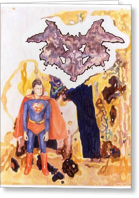 Nietzsche Complex Greeting Card by Karl Frey