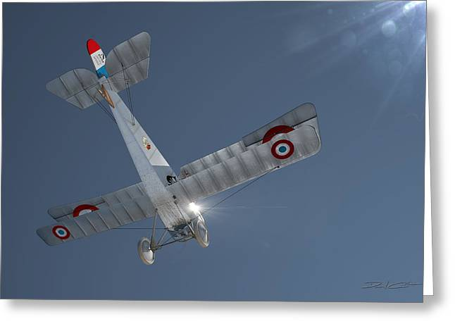 Nieuport 17 In The Blue Sky Greeting Card by David Collins
