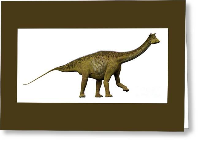 Nigersaurus Side Profile Greeting Card