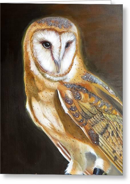 Night Angel Greeting Card by Phyllis Beiser