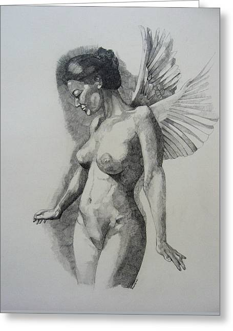 Night Angel Greeting Card
