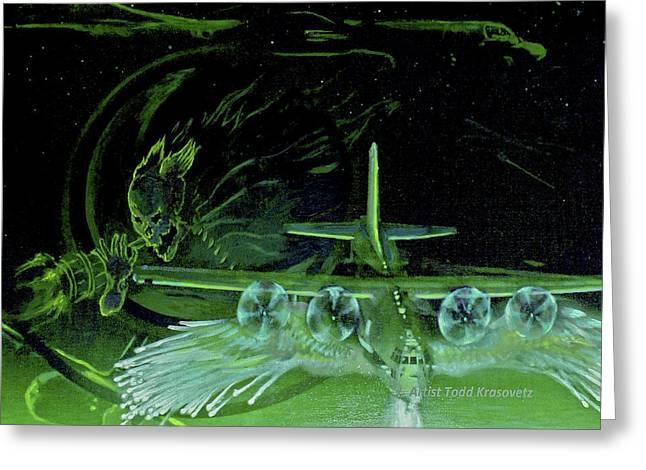 Night Angels Greeting Card by Todd Krasovetz