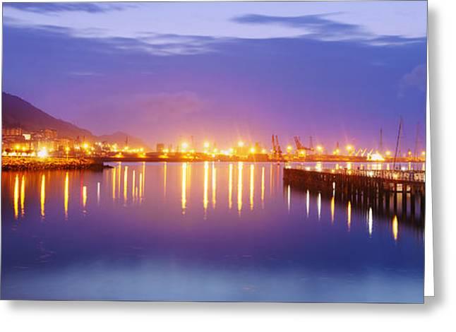 Night At Las Arenas Beach Greeting Card