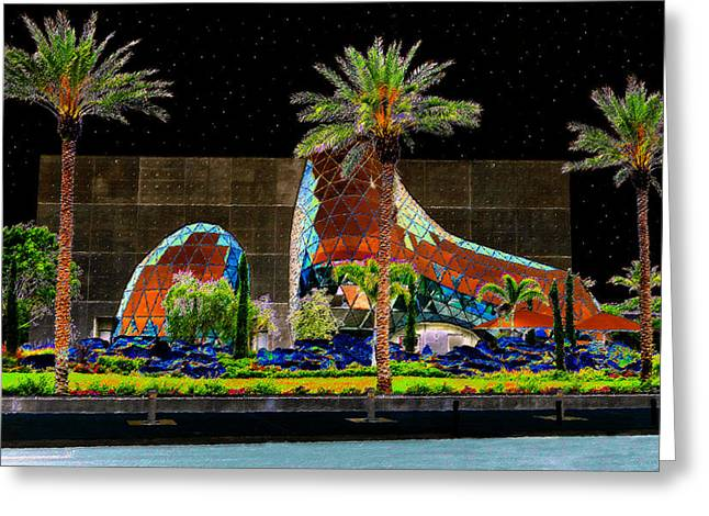 Dali Museum Greeting Cards - Night at the Dali Museum Greeting Card by David Lee Thompson