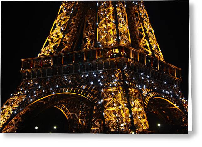 Night At The Eiffel Greeting Card by Susie Weaver