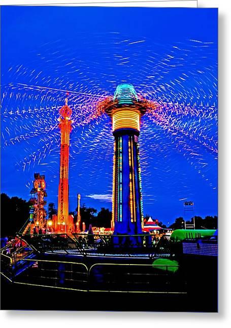 Night At The Fair Greeting Card
