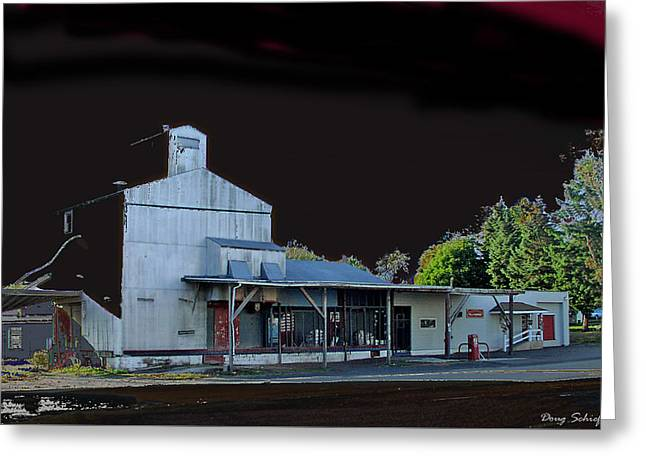 Night At The Ringtown Feed Mill Greeting Card by Doug Schiefer