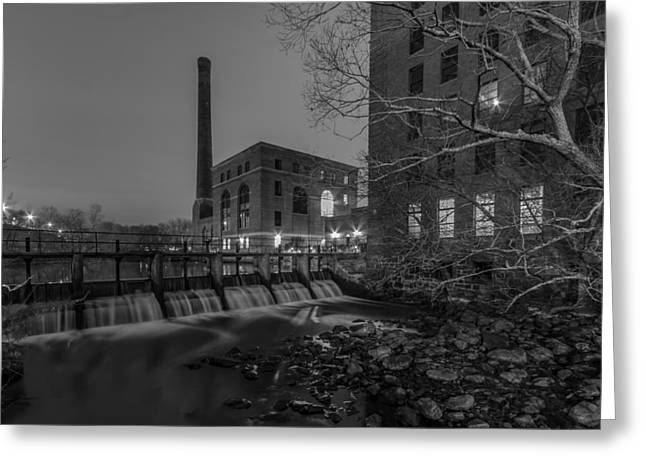 Night At The River 2 In Black And White Greeting Card