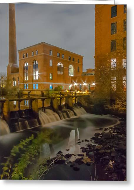Night At The River Vertical Greeting Card