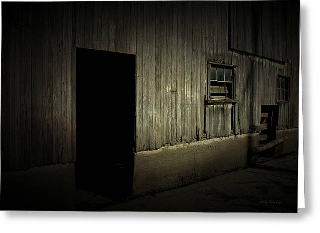Greeting Card featuring the photograph Night Barn by Cynthia Lassiter