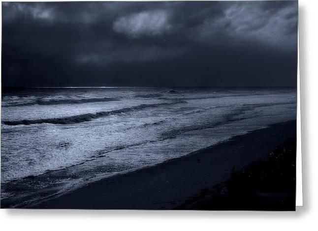 Night Beach - Jersey Shore Greeting Card