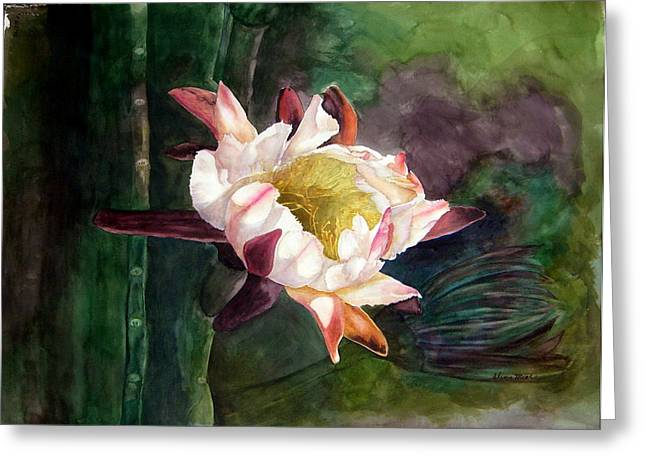 Night Blooming Cereus Greeting Card by Sharon Mick