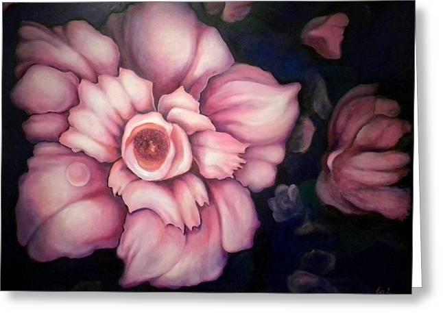 Night Blooms Greeting Card by Jordana Sands