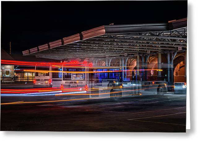 Night Bus Greeting Card