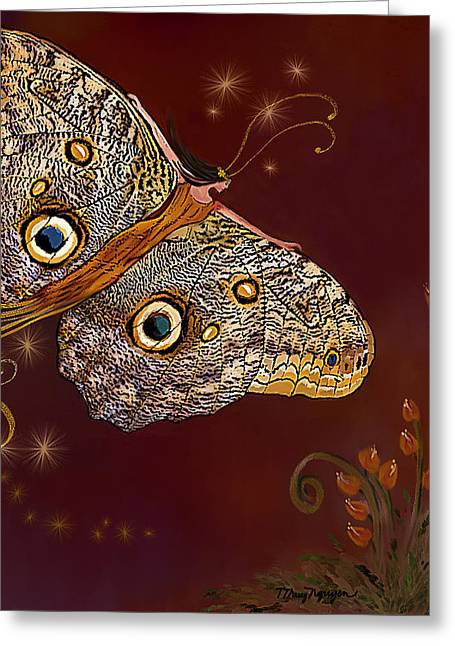 Night Butterfly  Greeting Card