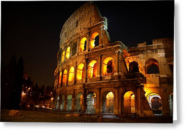 Night Colosseum Greeting Card by Kevin Flynn