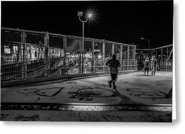 Night Commute  Greeting Card by Jeffrey Friedkin