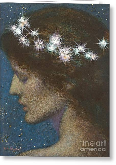 Night Greeting Card by Edward Robert Hughes