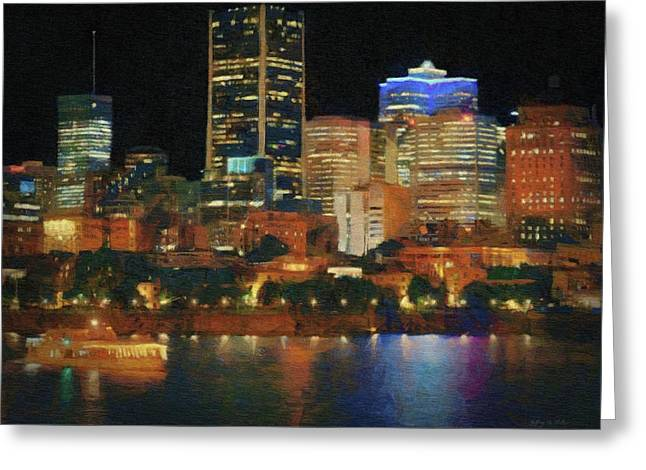 Night Excursion In Montreal Greeting Card