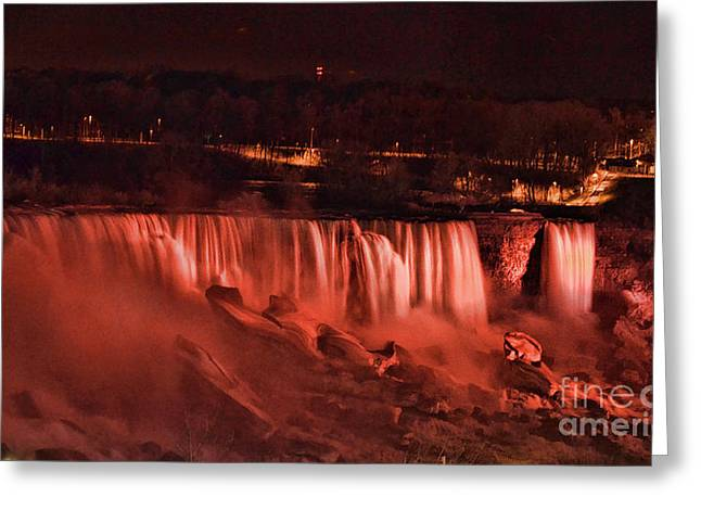Greeting Card featuring the photograph Night Falls by Traci Cottingham