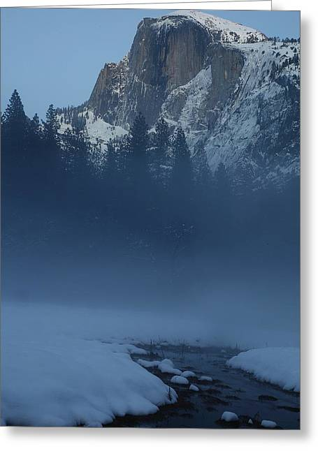 Greeting Card featuring the photograph Night Falls Upon Half Dome At Yosemite National Park by Jetson Nguyen