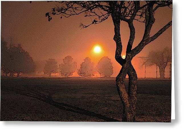 Night Fog Greeting Card by Betty LaRue