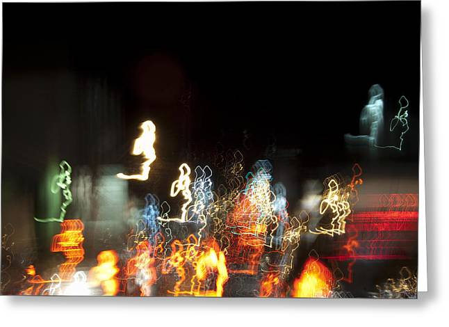 Night Forest - Light Spirits Limited Edition 1 Of 1 Greeting Card