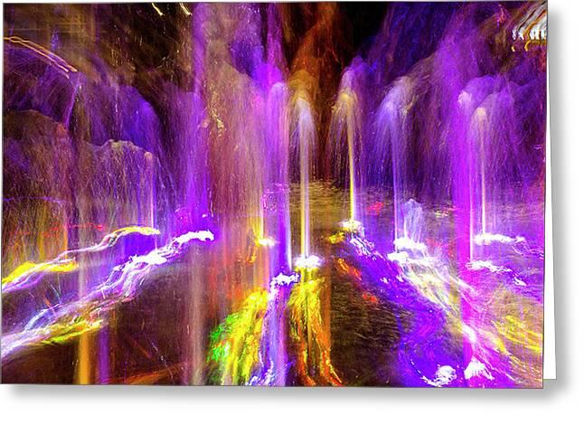 Night Fountain  Greeting Card