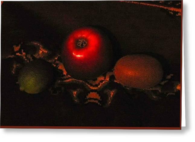 Night Fruit Greeting Card