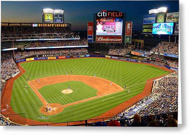 Night Game At Citi Field Greeting Card