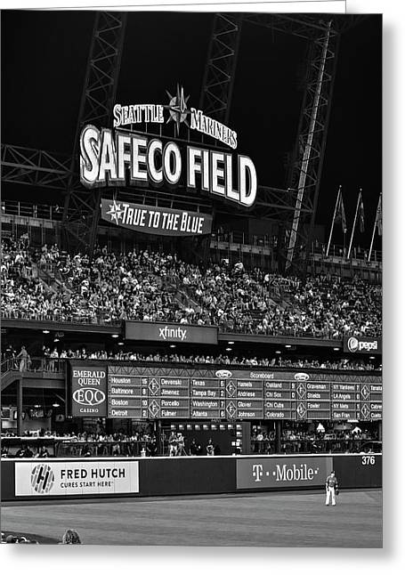Night Game - Safeco Field Greeting Card by Daniel Hagerman
