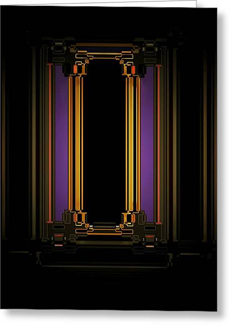 Night Greeting Card by Geoff Simmonds