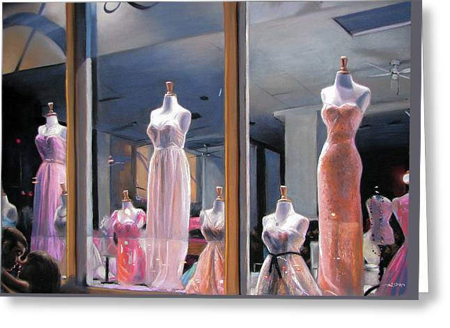 Night, Gowns Greeting Card