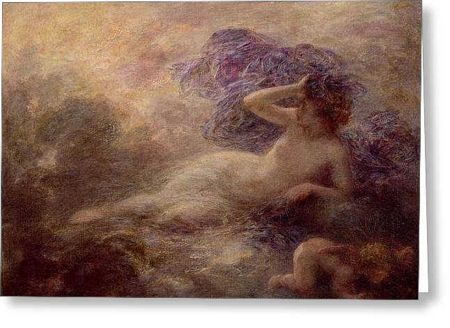 Night Greeting Card by Ignace Henri Jean Fantin Latour