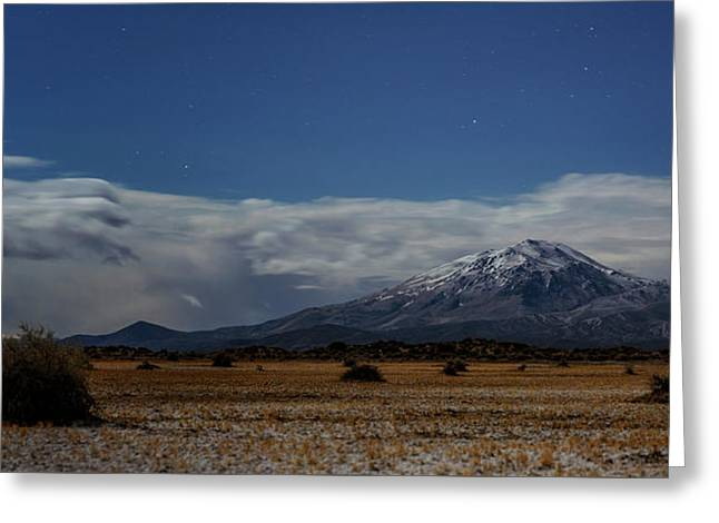 Greeting Card featuring the photograph Night In The Alvord Desert by Cat Connor