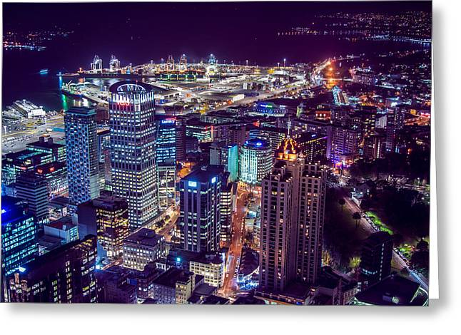 Night In The City Greeting Card by Martin Capek