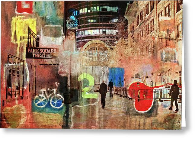 Greeting Card featuring the photograph Night In The City by Susan Stone