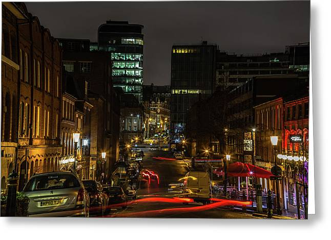 Night In The Jewellery Quarter Greeting Card