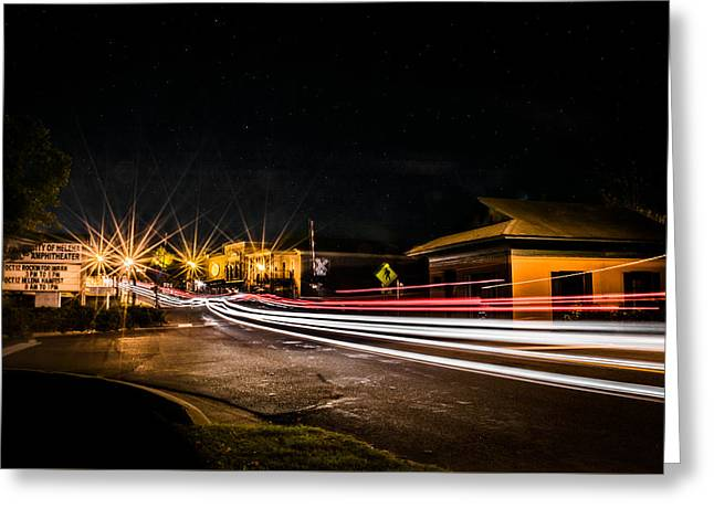 Night Life In Old Town Helena Greeting Card