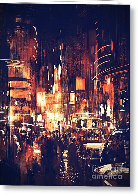 Night Life Greeting Card