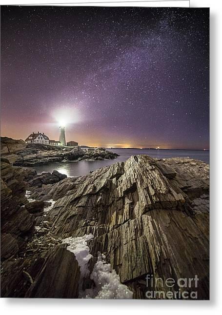 Night Light Greeting Card by Benjamin Williamson