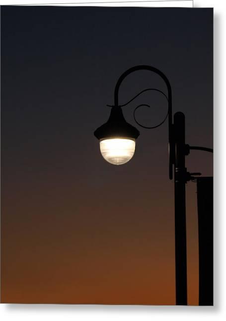 Night Light Greeting Card by Stan Wojtaszek