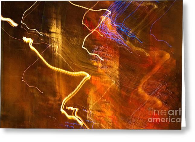 Night Lights 3 Greeting Card by Layne Hardcastle