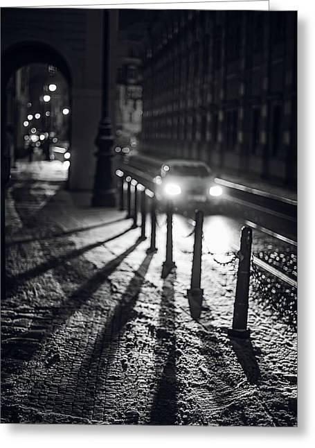 Night Lights. Prague Greeting Card