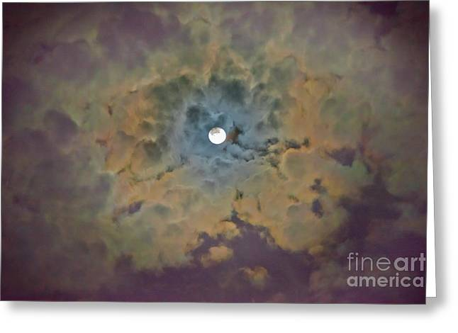 Night Moon Greeting Card
