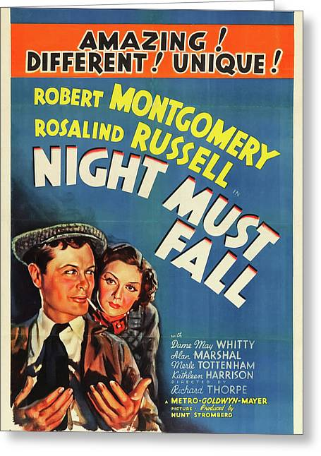 Night Must Fall 1937 Greeting Card by M G M