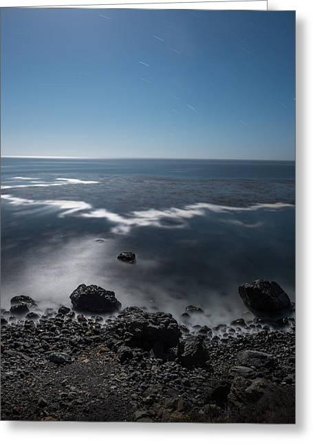 Greeting Card featuring the photograph Night Near Gorda by Alexander Kunz