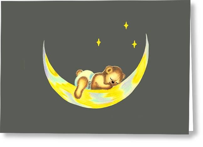 Night Night Teddy Greeting Card